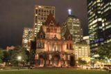 Boston_215_09252013 - Frontal look at the Old Trinity Church at night
