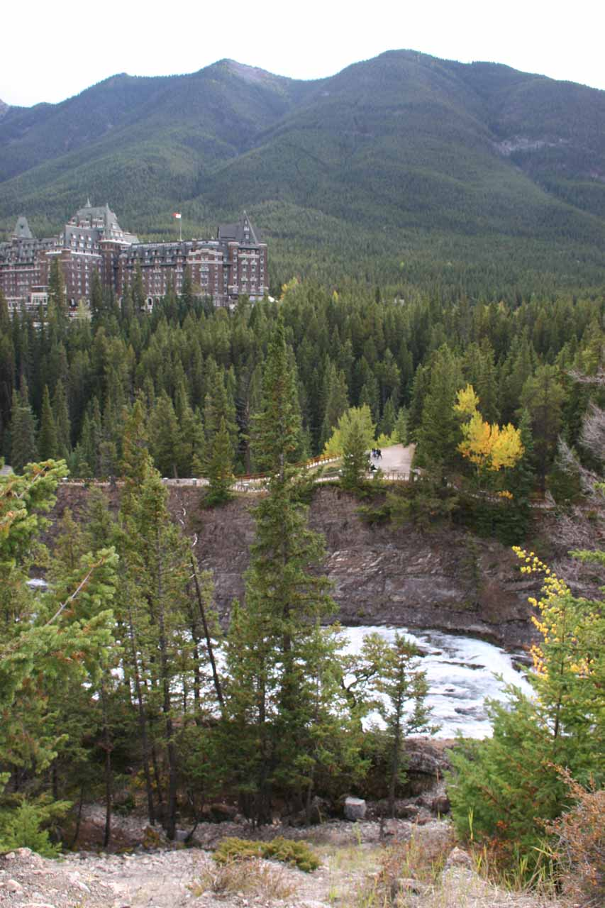 At first, we took Buffalo Street and went to the Hoodoos Trail which yielded this view of the Bow River and the Banff Springs Hotel