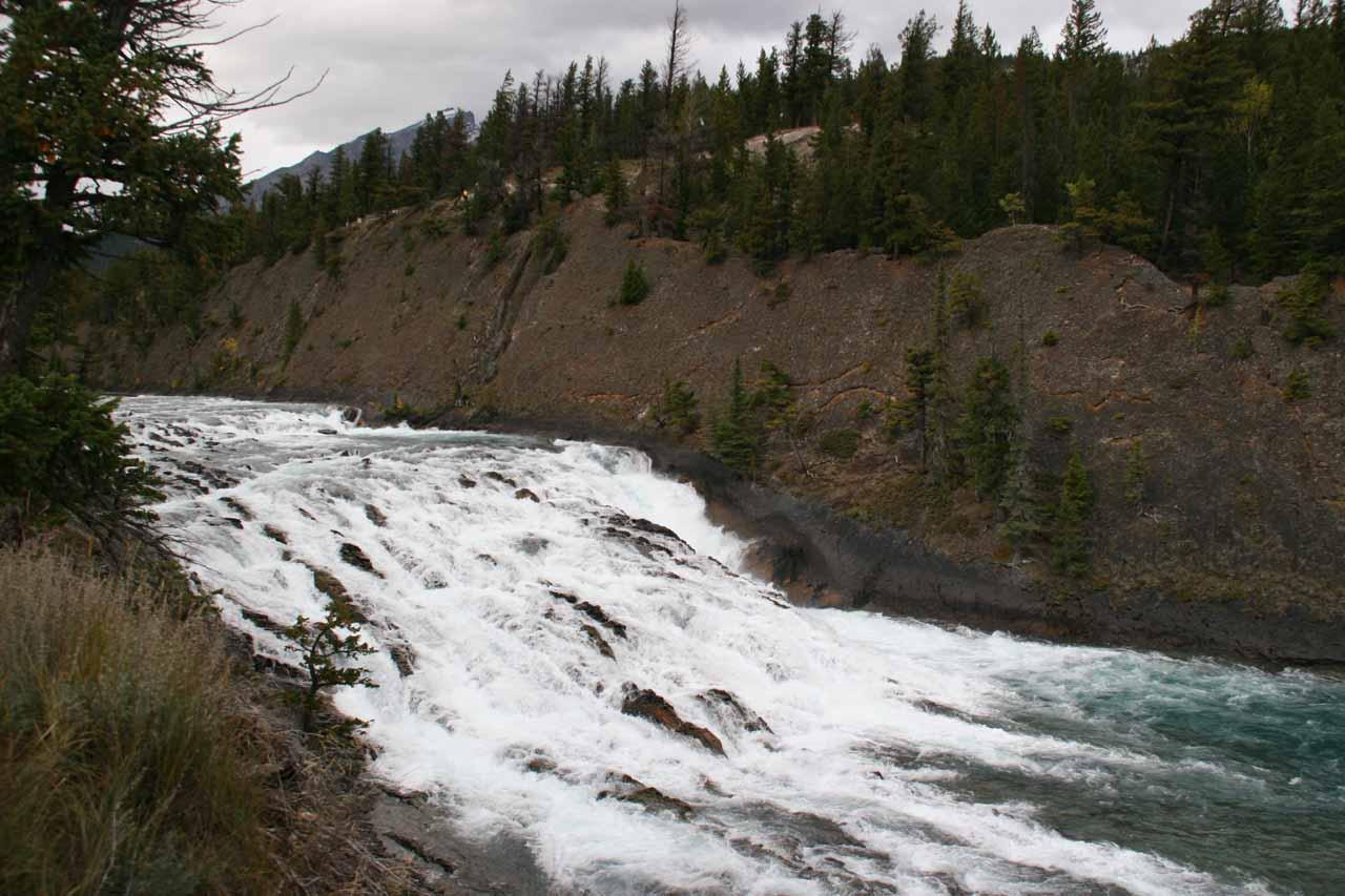 Top down angled look at Bow Falls