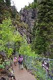 Box_Canyon_016_07242020 - Tahia and Julie making their way down to the Box Canyon Falls on the developed walkway