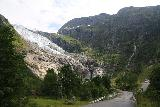 Boyabreen_023_07202019 - Getting closer to the Bøyabreen Glacier. The road ramping up on the right is leading to the closer car park and cafe for the Brævasshytta