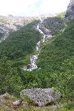 Boyabreen_052_07202019 - Direct look towards the waterfall beneath the Vetlebreen Glacier