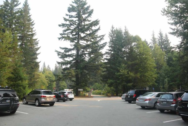 Brandywine_Falls_BC_002_08012017 - The parking lot for Brandywine Falls Provincial Park