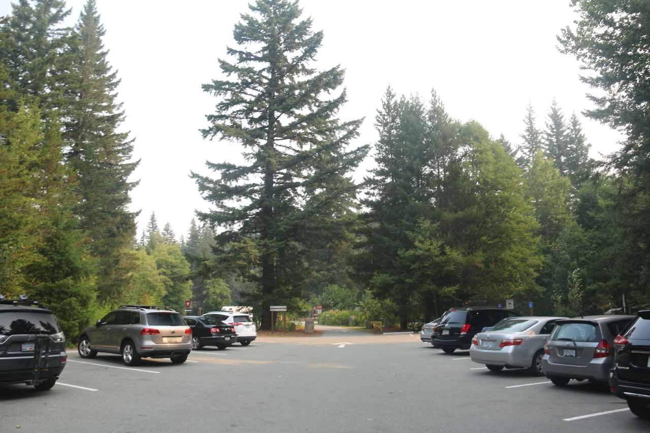At the fairly large parking lot for Brandywine Falls Provincial Park