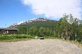 Bredekfossen_010_07082019 - Looking across the wide car park for the Telegrafsruta at Bjøllånes