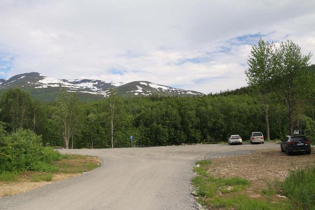 Bredekfossen_014_07082019 - The trailhead for the Telegrafsruta, which was also where I parked to do the Bredekrunden in a counterclockwise direction