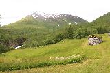 Bredekfossen_160_07092019 - Context of the attractive mountain fronted by the Bredek Farm and part of Stormdalsaga near the brink of Bredekfossen
