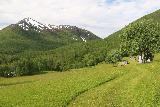 Bredekfossen_173_07092019 - Another attractive look at the clearing containing the Bredek Farm fronting what might be Ortfjellet