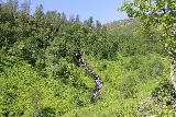 Bredekfossen_206_07092019 - Looking up at some side cascade eventually feeding the Stormdalsaga by the base of Bredekfossen