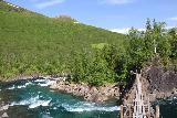 Bredekfossen_235_07092019 - Crossing the swinging bridge over Stormdalsaga