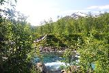 Bredekfossen_244_07092019 - One last look back across Stormdalsaga and the swinging bridge backed by some attractive mountains