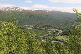 Bredekfossen_333_07092019 - Another look back in the direction of Bjollanes and Storvollen backed by some mountain with a smattering of snow on it
