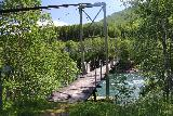Bredekfossen_369_07092019 - Approaching the final swinging bridge, but this one is over Ranaelva