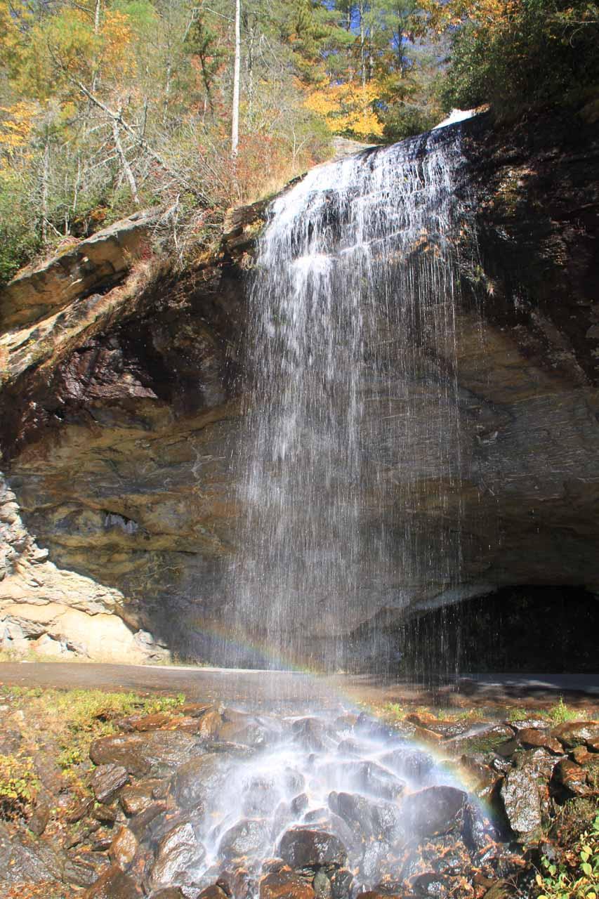 Bridal Veil Falls and faint rainbow