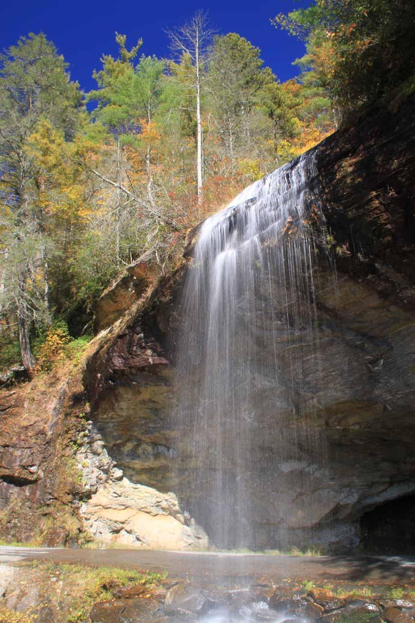Colorful trees atop Bridal Veil Falls