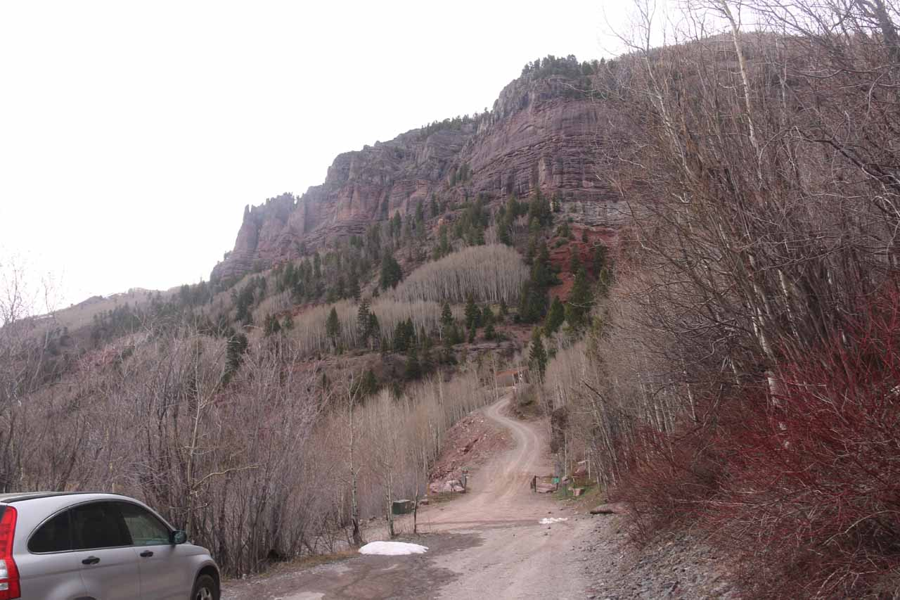 Here's a look at the early part of the 4wd road leading up towards Bridal Veil Falls