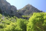 Bridal_Veil_Falls_Provo_003_05282017 - Partial view at the upper drops of Bridal Veil Falls from the parking area close by the Provo River. This photo and the rest of the photos in this gallery was taken in late May 2017