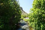 Bridal_Veil_Falls_Provo_004_08102020 - Looking downstream from the footbridge over the the Provo River during our mid-August 2020 visit to Bridal Veil Falls