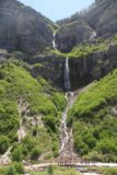 Bridal_Veil_Falls_Provo_041_05282017 - Looking towards the entirety of Bridal Veil Falls in the late morning or midday of our late May 2017 visit from the scenic lookout