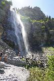 Bridal_Veil_Falls_Provo_051_08102020 - Another look towards the context of the base of the tallest drop of Bridal Veil Falls before I started to head back down on my August 2020 visit