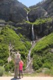 Bridal_Veil_Falls_Provo_057_05282017 - Julie and Tahia enjoying their elevated view of the Bridal Veil Falls in the late morning of our late May 2017 visit