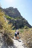 Bridal_Veil_Falls_Provo_061_08102020 - Looking back at more people approaching the base of the tallest drop of Bridal Veil Falls while I was heading back down during my August 2020 visit