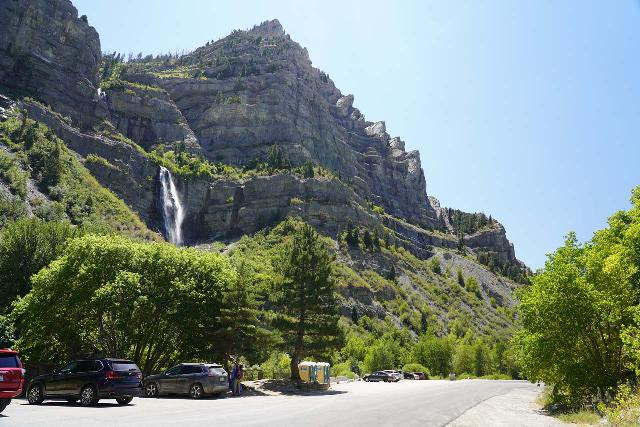 Bridal_Veil_Falls_Provo_076_08102020 - Context of the parking area at the base of Bridal Veil Falls in Provo Canyon as seen in mid-August 2020