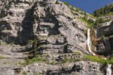 Bridal_Veil_Falls_Provo_118_05282017 - Context of some people following a precarious cliff ledge in pursuit of the base of the upper drop of Bridal Veil Falls in late May 2017
