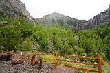 Bridal_Veil_Falls_Telluride_006_07222020 - Context looking towards the end of the official trailhead parking for Bridal Veil Falls where we could also see the main drop of Ingram Falls to the topleft