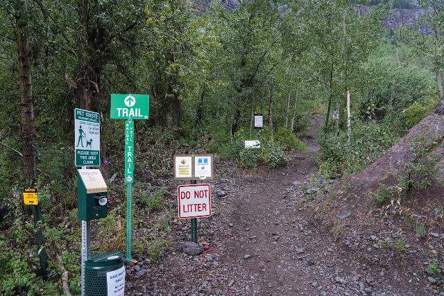 Bridal_Veil_Falls_Telluride_017_07222020 - The start of the new Bridal Veil Creek Trail leading up to the base of Bridal Veil Falls
