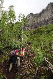 Bridal_Veil_Falls_Telluride_112_07222020 - Tahia and Julie still climbing on the steep Bridal Veil Creek Trail en route to the base of Bridal Veil Falls