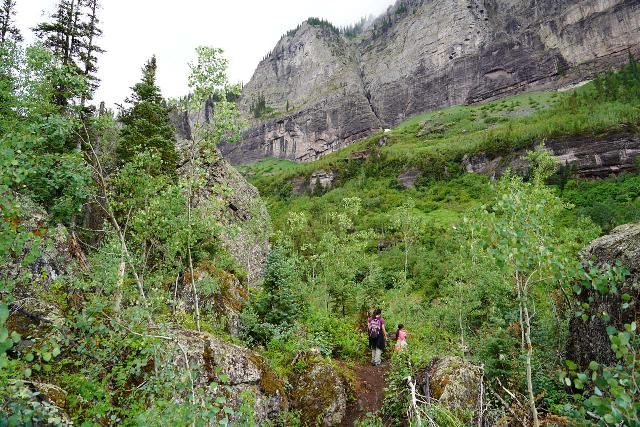 Bridal_Veil_Falls_Telluride_117_07222020 - The Bridal Veil Creek Trail involved hiking through a mix of trees and volcanic rocks for a more naturesque experience than walking directly on the 4wd road