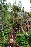 Bridal_Veil_Falls_Telluride_160_07222020 - Julie and Tahia continuing to slowly make their way up the Bridal Veil Creek Trail