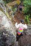 Bridal_Veil_Falls_Telluride_165_07222020 - Tahia negotiating one of the rock obstacles on the Bridal Veil Creek Trail