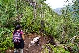 Bridal_Veil_Falls_Telluride_189_07222020 - The thin air getting to Tahia at this point so she needed some more time to rest