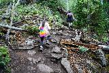 Bridal_Veil_Falls_Telluride_240_07222020 - Julie and Tahia still climbing up the Bridal Veil Creek Trail en route to the base of Bridal Veil Falls