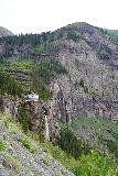 Bridal_Veil_Falls_Telluride_416_07222020 - Looking towards the profile of Bridal Veil Falls and the power station at its brink as the 4wd road continued to climb towards the next switchback
