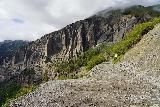 Bridal_Veil_Falls_Telluride_441_07222020 - Looking back at the context of the last switchback before the spur trail leading to the power station at the top of Bridal Veil Falls