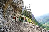 Bridal_Veil_Falls_Telluride_443_07222020 - The sign at the start of the spur trail leading the 4wd road en route to the power station at the top of Bridal Veil Falls and beyond