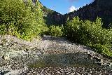 Bridal_Veil_Falls_Telluride_582_07222020 - Context of the crossing of Ingram Creek as it flowed across the 4wd road. Note that this creek was not above the surface of the creekbed down by the Bridal Veil Creek Trail earlier on
