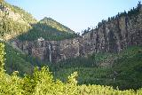 Bridal_Veil_Falls_Telluride_603_07222020 - Looking back at the context of Bridal Veil Falls way in the distance as I continued to make my way back to the trailhead