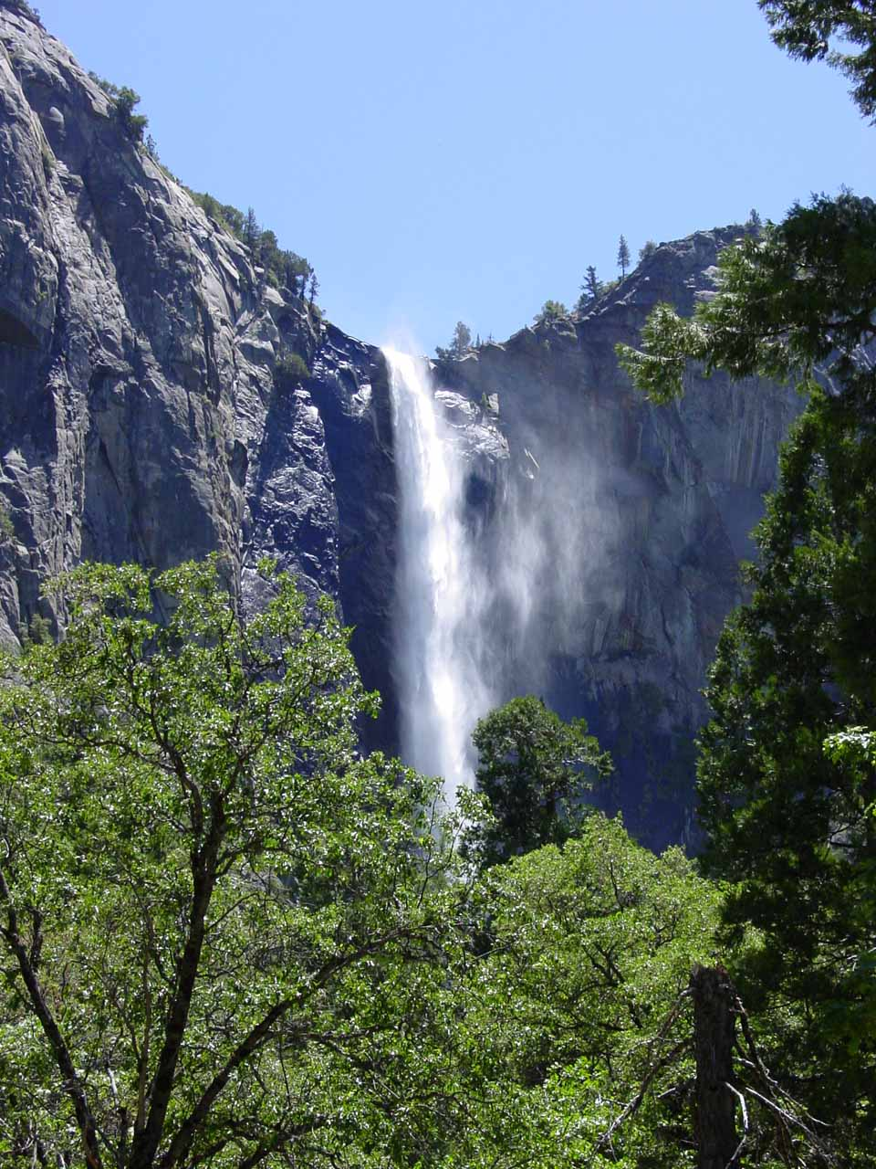 Bridalveil Fall from the Southside Drive in 2002