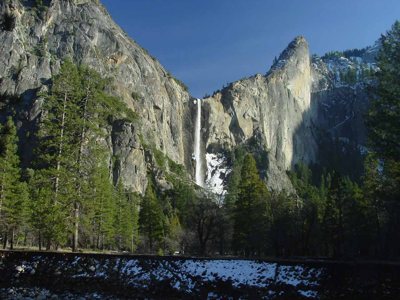 Bridalveil Fall from across the Merced River