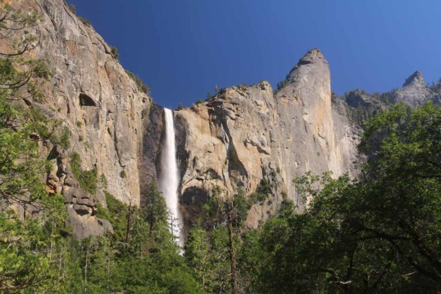 Bridalveil_Fall_17_023_06162017 - Bridalveil Fall and the Leaning Tower in high flow during a visit in June 2017