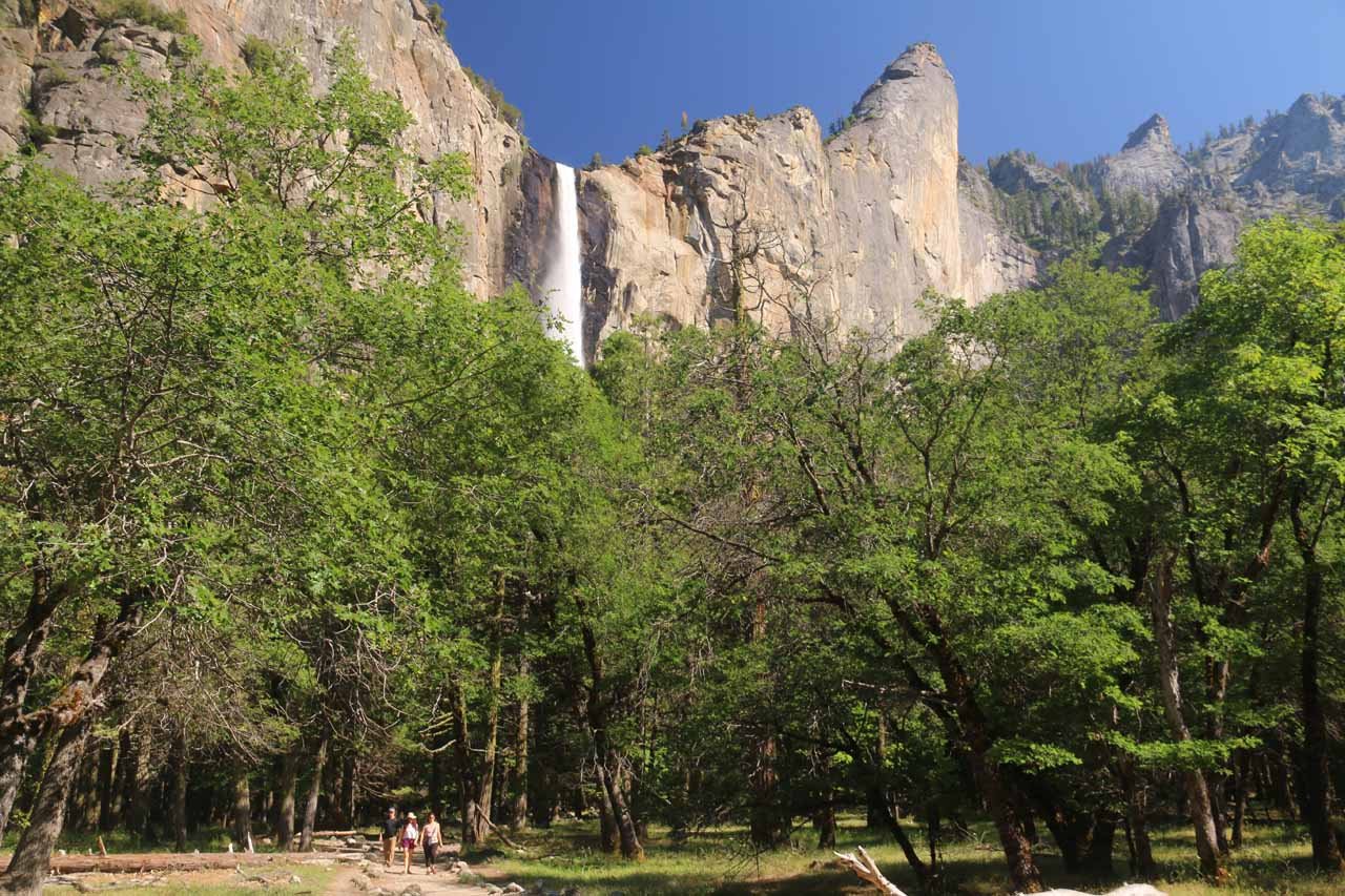 Bridalveil Fall and the Leaning Tower from Southside Drive
