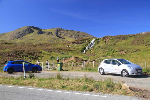 Brides_Veil_001_08262014 - The parking situation across the A855 Road before the Bride's Veil Waterfall on the Isle of Skye