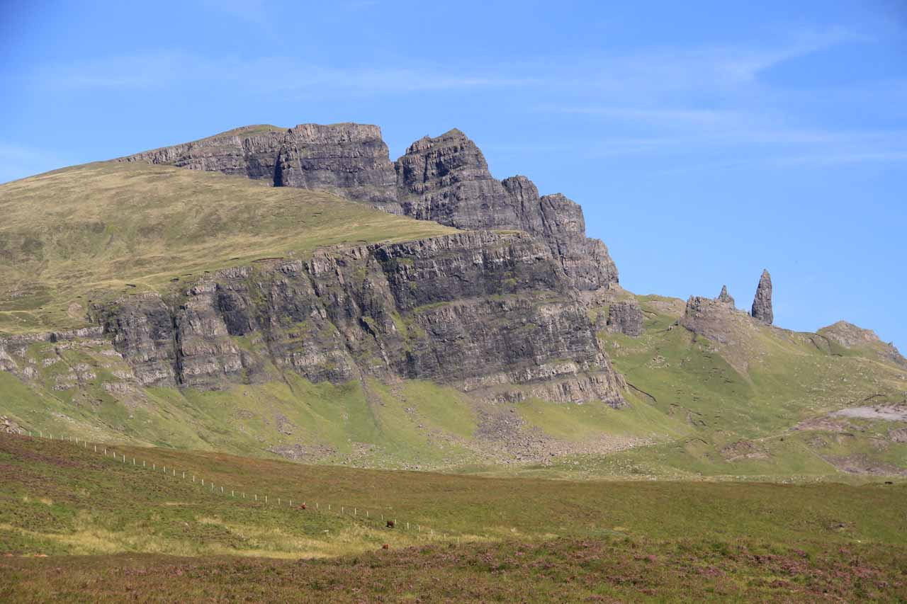 Roughly 10 miles north of Portree was the eccentric Old Man Storr, which seemed to be a popular destination for hikers wishing to get a great view over the Sound of Raasay