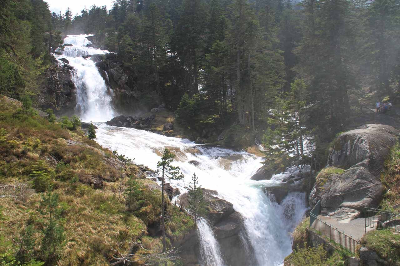 One of the waterfalls at the Bridge of Spain