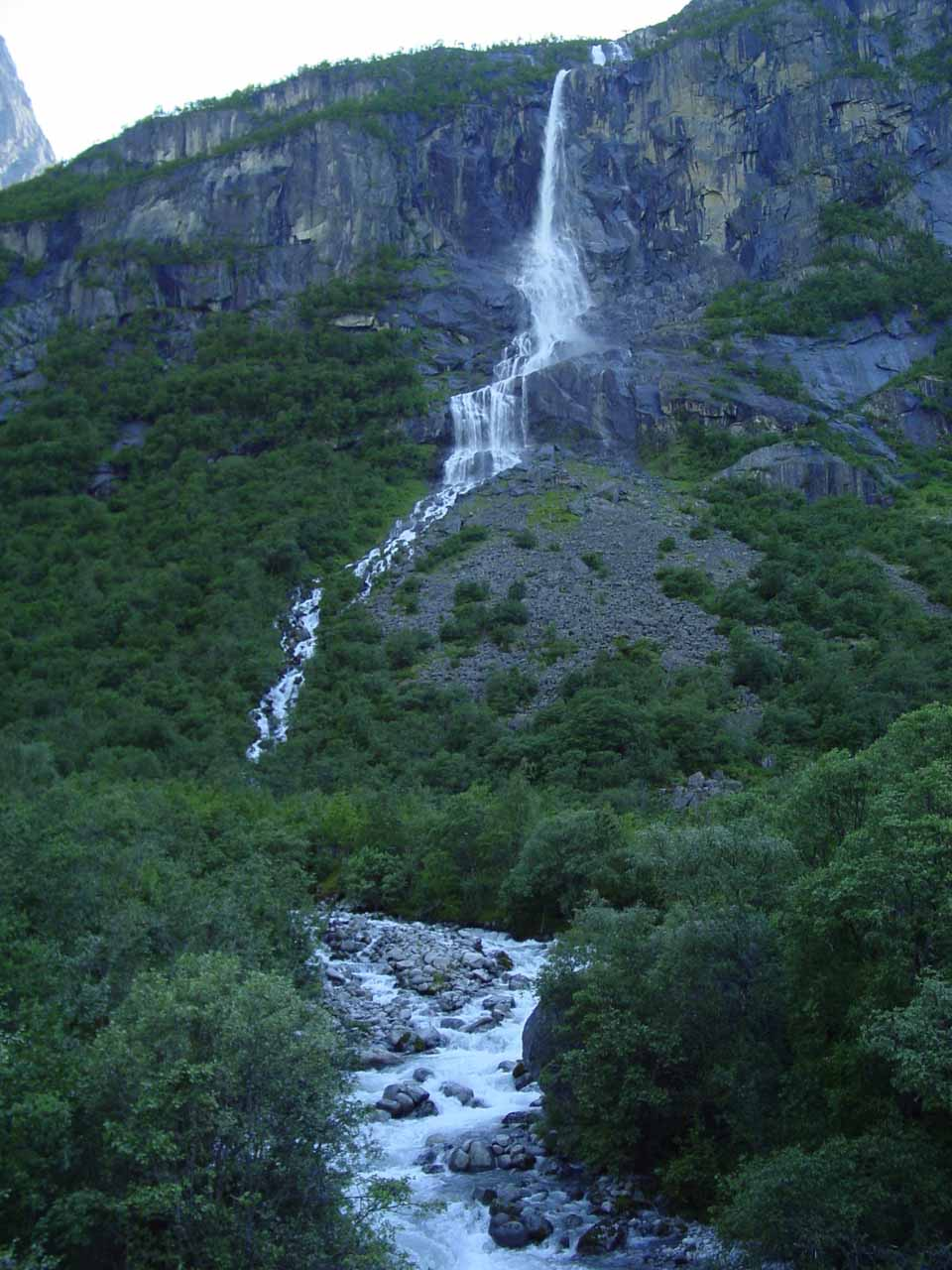 Back at the base of Volefossen after the hike to Briksdalbreen Glacier