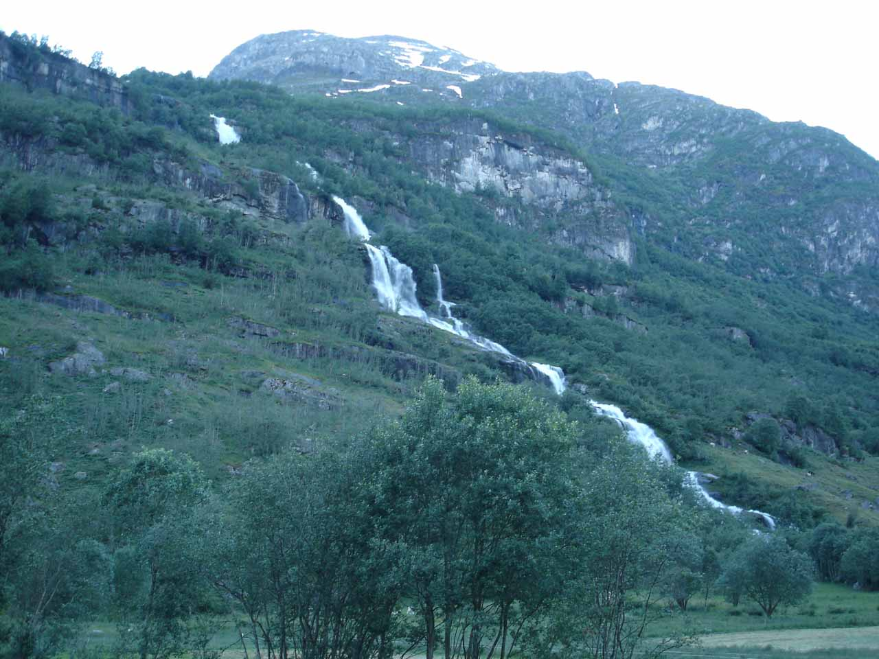 This long and thick cascading waterfall was the one I thought was called Melkevollfossen